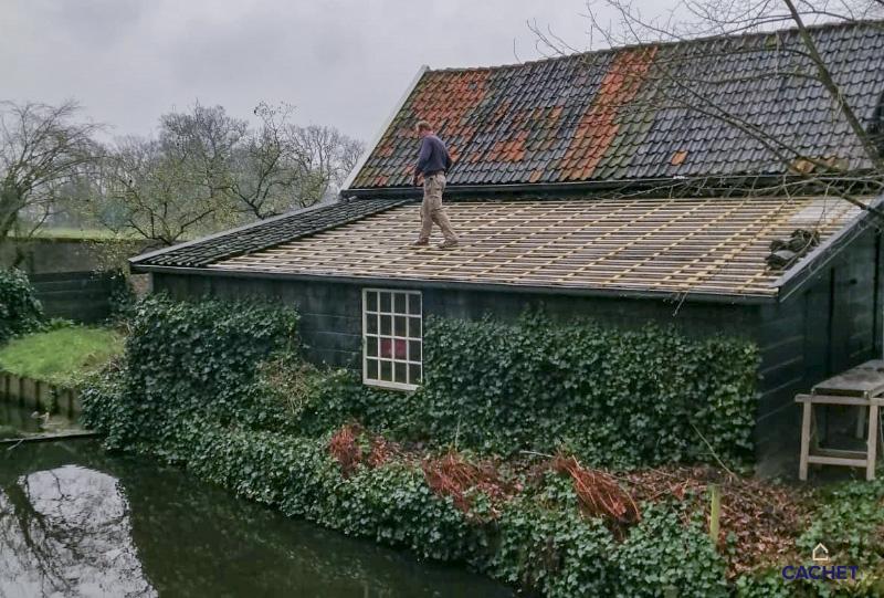 Renovatie schuurdak bij Cachet verbouw in Warmond
